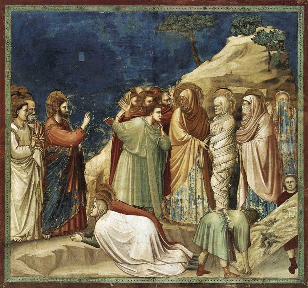 Giotto di Bondone: Resurrezione di Lazzaro